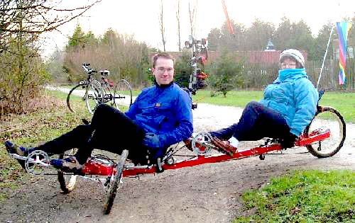 Myself and Hazel West of Bishopthorpe Bikes on the tandem. Click for techie description